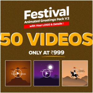 Festival Video Animation Greetings Pack V2 For Social Media